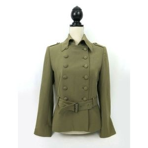 Donna Gray jacket size 6 military style green